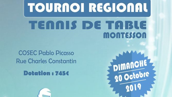 Tournoi régional de Montesson Tennis de Table