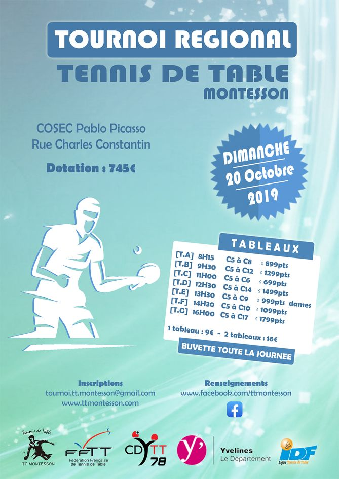 Affiche tournoi TT Montesson