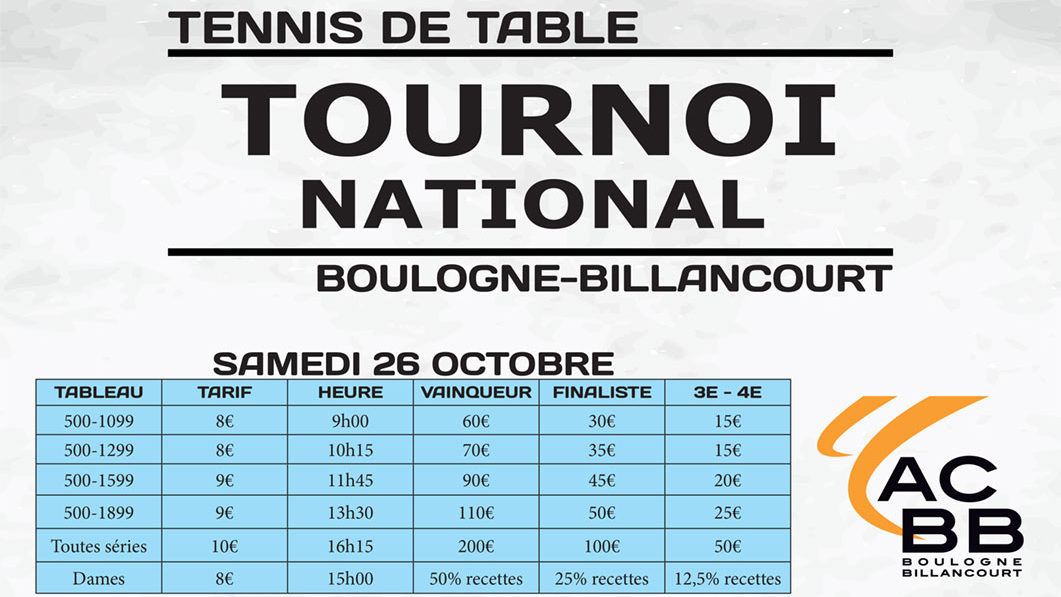 Tournoi national de Boulogne-Billancourt