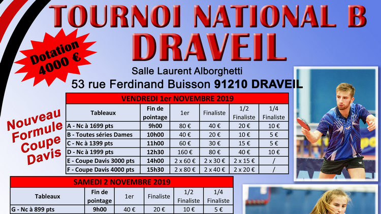 Tournoi National B de Draveil